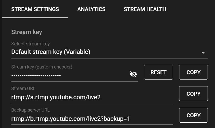 stream key r
