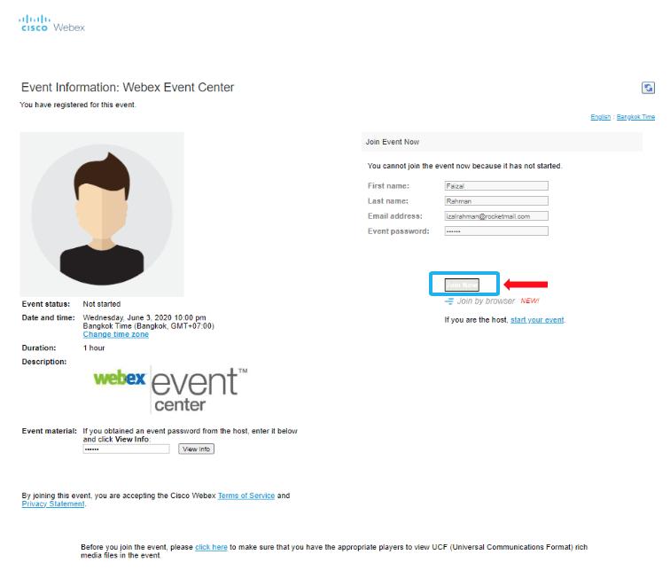 webex event center 23 r