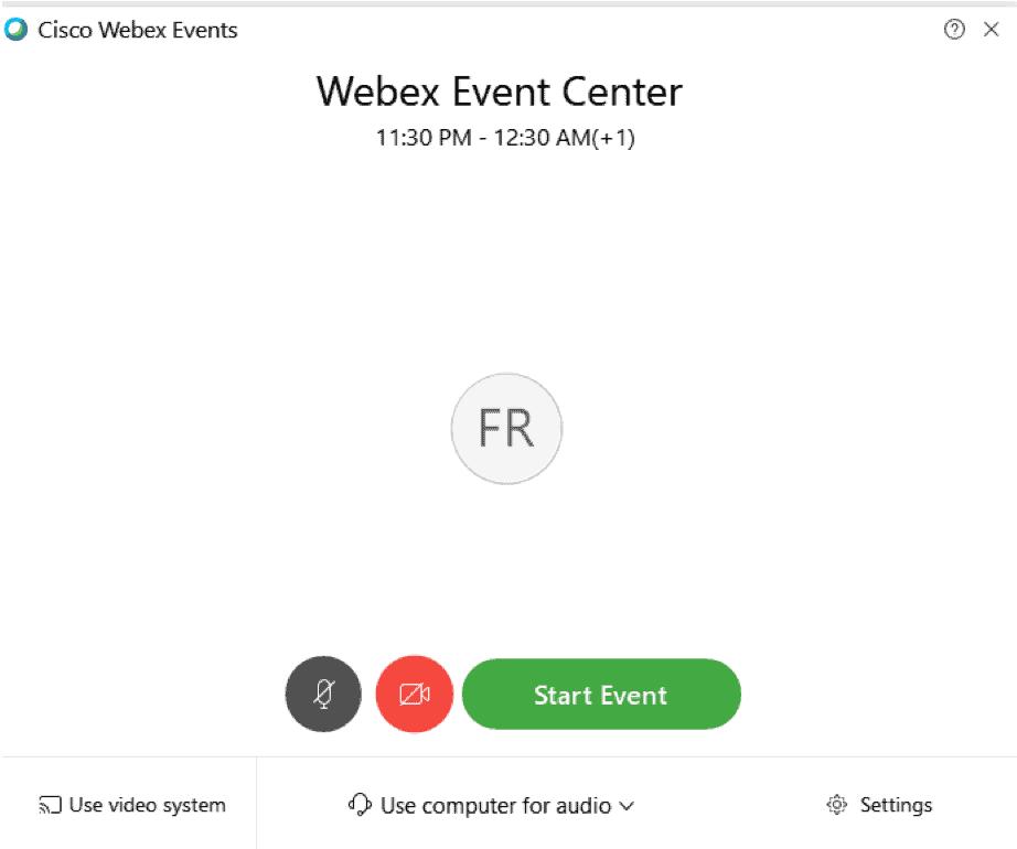 webex event center 25 r